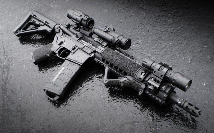 M4 Machine Gun With Scope