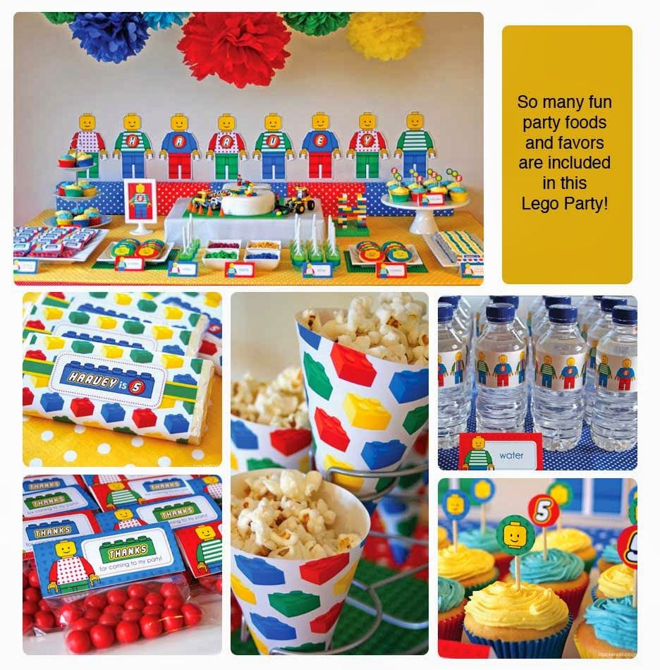 Excellent lego party ideasgames masks food decorations
