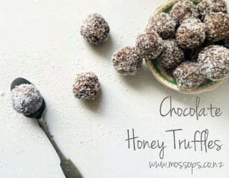 10 minutes to make the most delicious Chocolate and Honey Truffles.