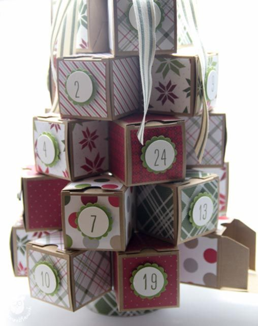 stampin 39 up weihnachtsbaum adventskalender stempelflausch 3d kreationen pinterest. Black Bedroom Furniture Sets. Home Design Ideas