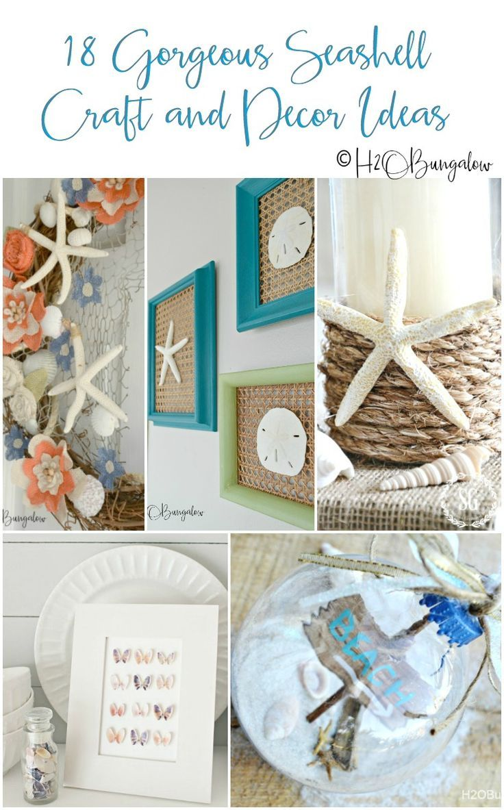 Creative Seashell Craft Ideas You Can Make This Summer is part of Home Accessories Decor DIY Projects - Creative seashell craft ideas for home decor that you can easily make using shells and starfish  Make your own coastal home decor with seashell craft ideas