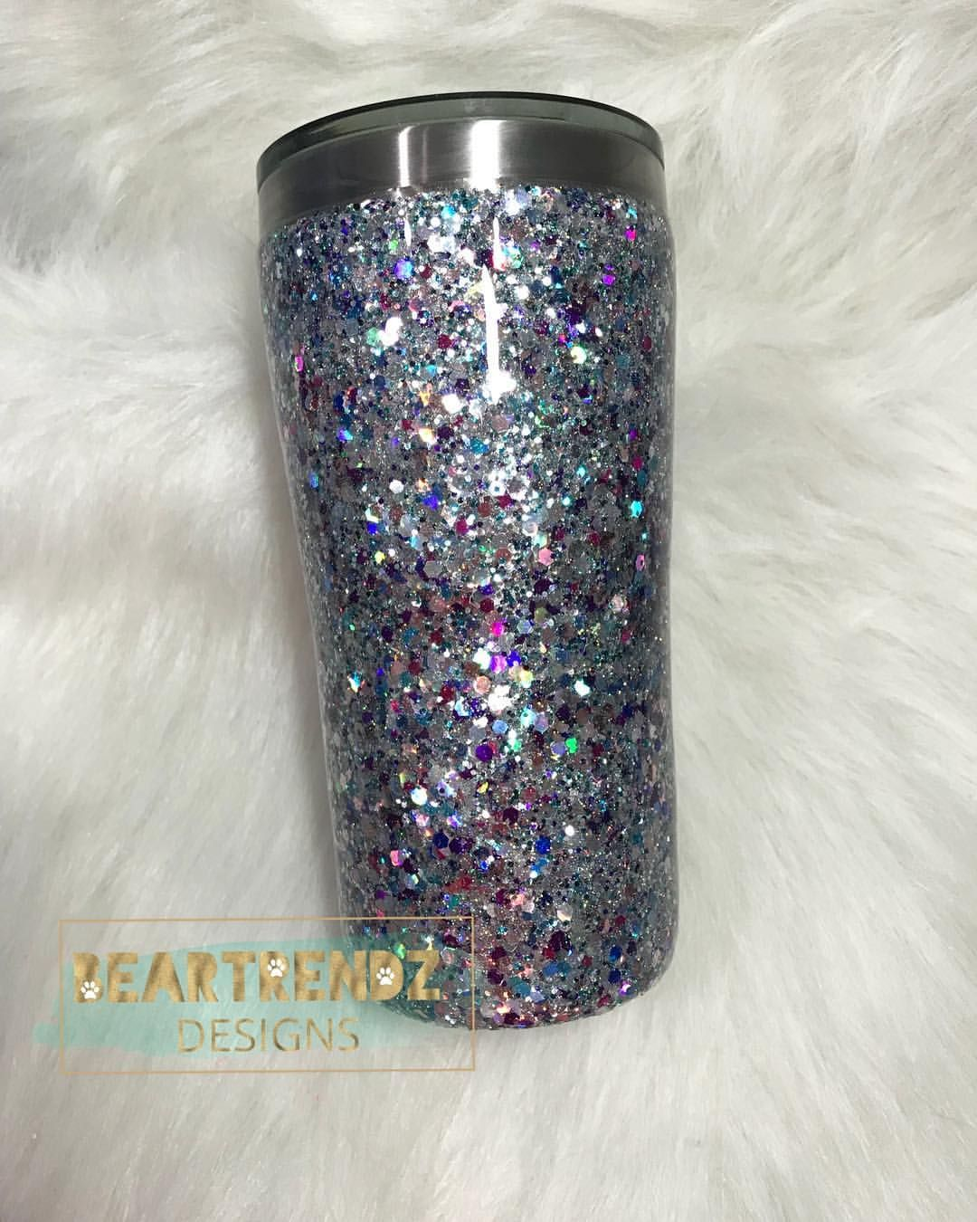 e35ac875ac7 Silver Chunky✨ so hard to capture how amazing this mix is... Glitter Cup  Glitter Tumbler Glitter yeti