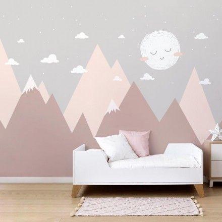 Painel Fotográfico Infantil Montanhas com Céu Estrelado