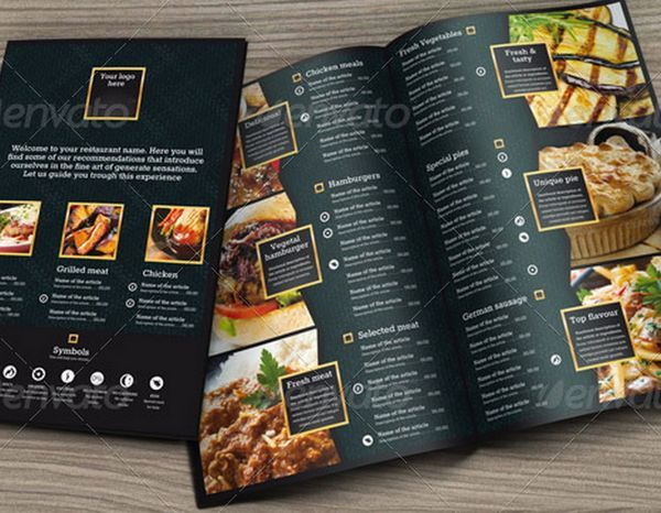 Food Menus Templates For Caf And Restaurants  Ginva  Layout