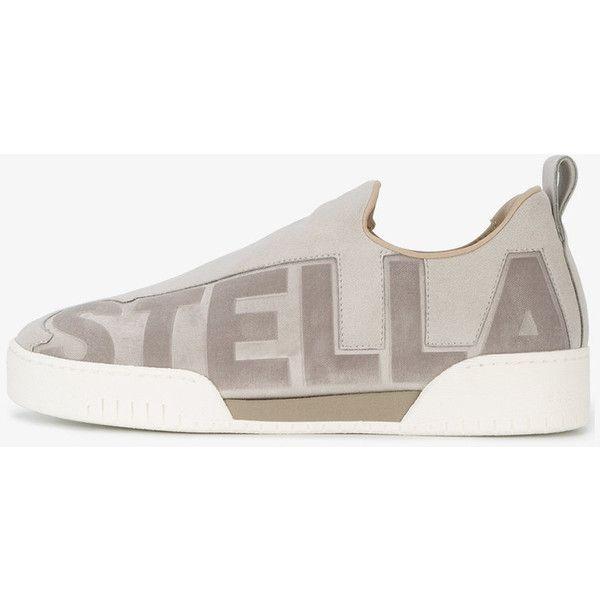 logo embossed slip on sneakers - Grey Stella McCartney