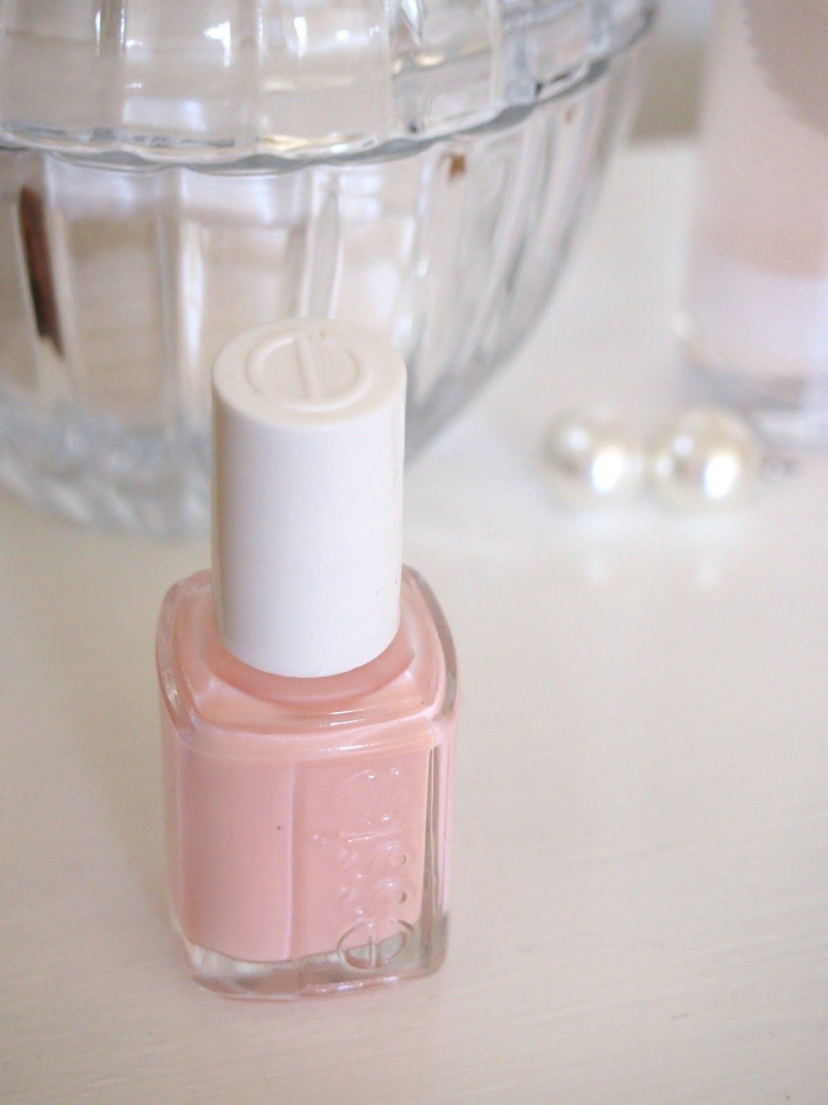 Essie, I like their nail polishes. They dry quickly and there are too many cute shades to choose from. I love neutral shades like this one.