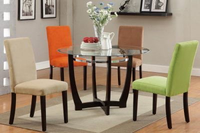 round kitchen table set with colorful chairs kitchen table pinterest rh pinterest ph