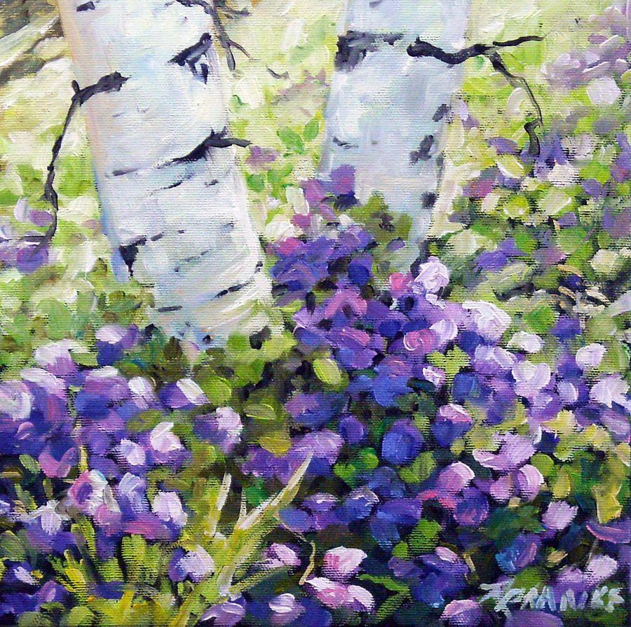 Richard Pranke Mountain Flowers Painting