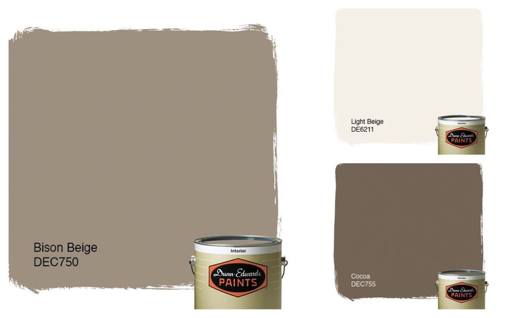 Dunn Edwards Bison Beige Light Beige And Cocoa Diy Home