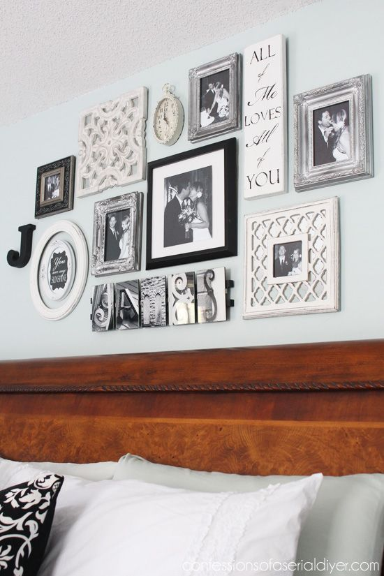 Bedroom Gallery Wall A Decorating Challenge Decor Above Bed