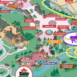 hersheypark map of hersheypark been there done that. Black Bedroom Furniture Sets. Home Design Ideas