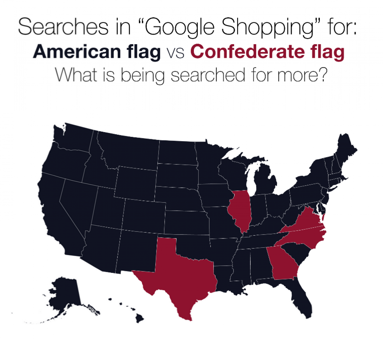 Map The United States Of Confederateflag Shopping Flags News - Us map american flag