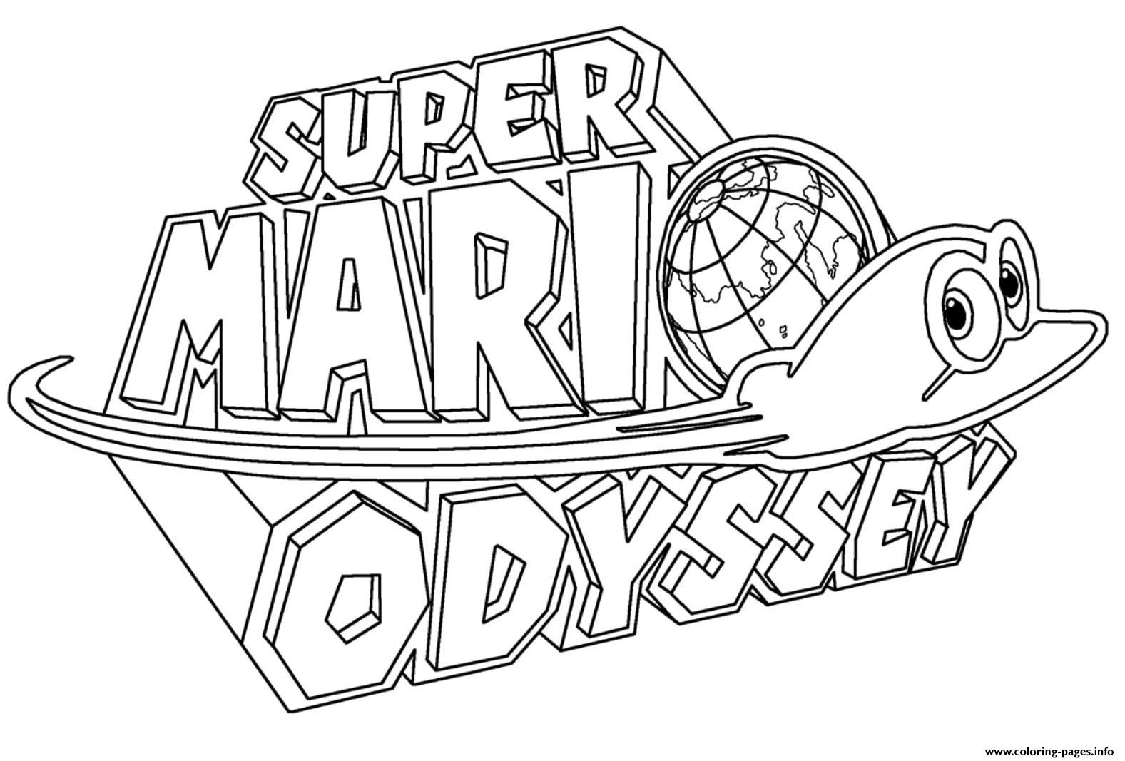 Print Super Mario Odyssey Logo Nintendo Coloring Pages In 2021 Super Mario Coloring Pages Mario Coloring Pages Coloring Pages
