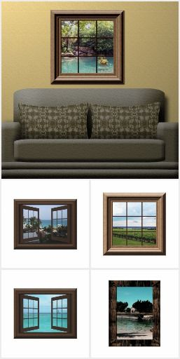 Fake Window Views For Your Basement Of Office.