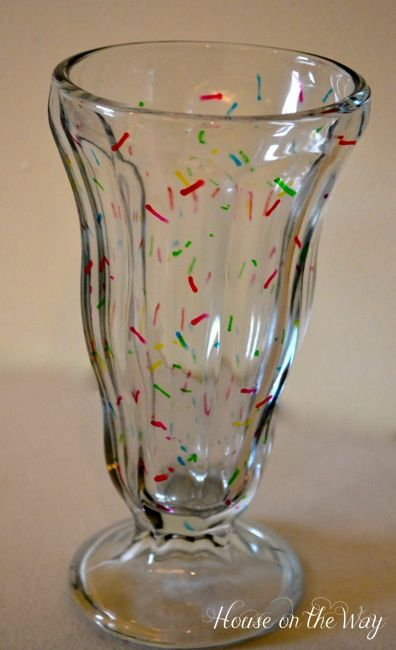 Sprinkled Ice Cream Glass Where Can I Buy This Sprinkles