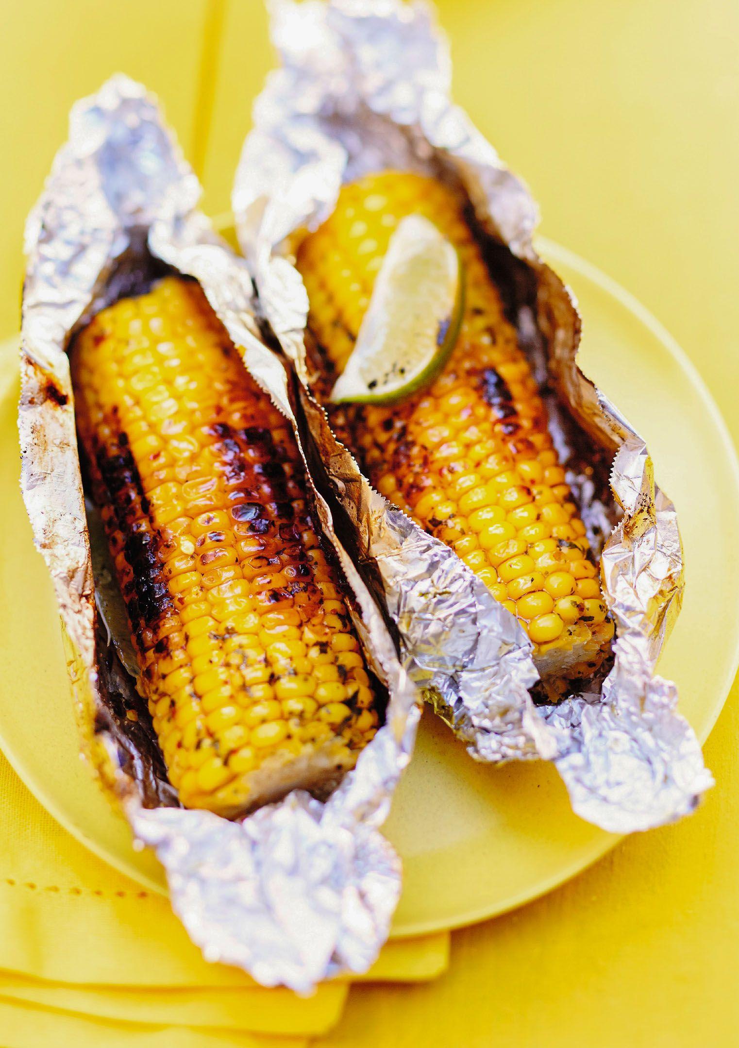 recette epis de maïs au beurre de menthe, citron vert et piment d