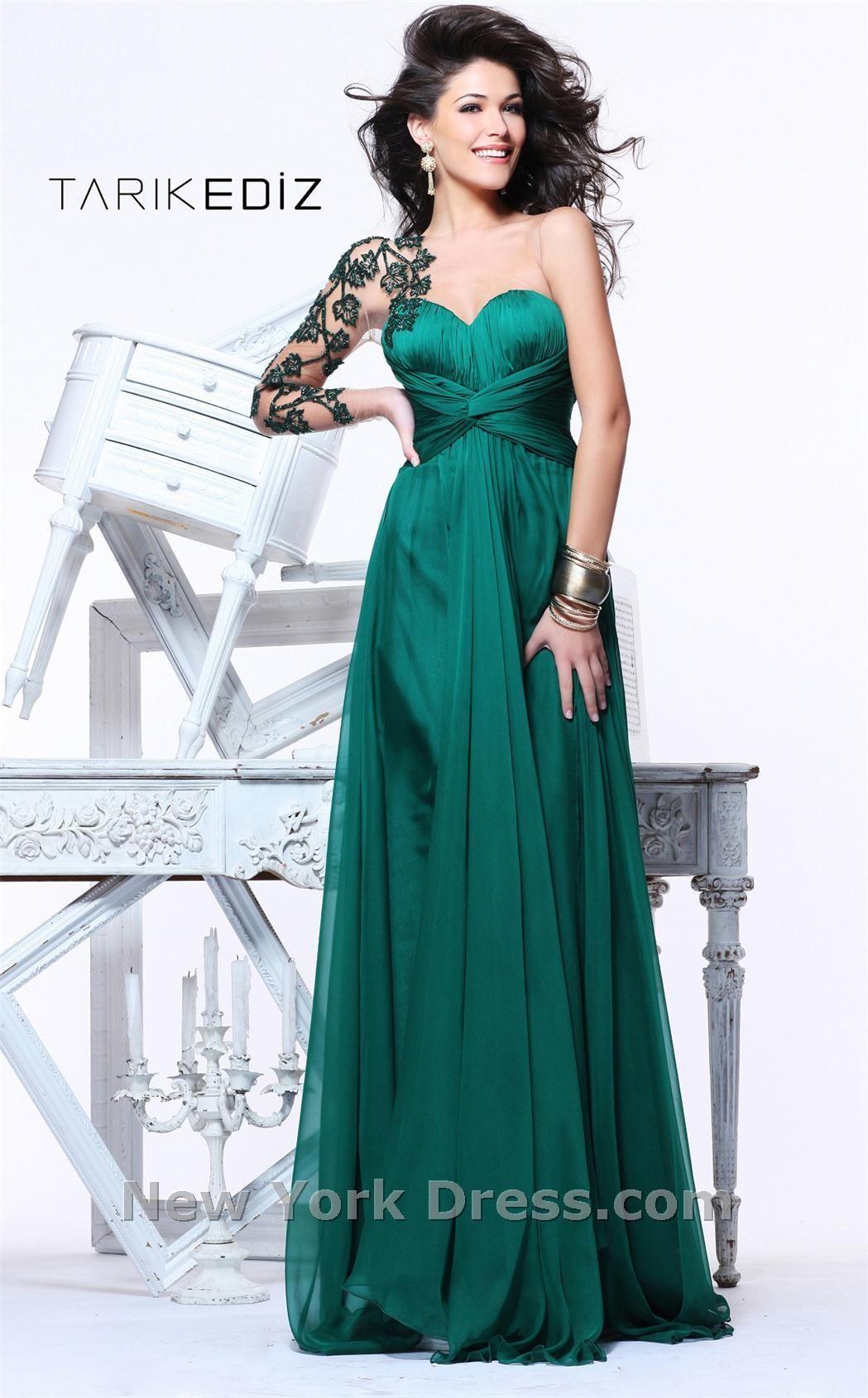 Tarik Ediz 92114 | Prom, Emeralds and Bodice