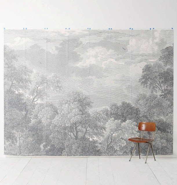 CHEAP TO CHIC PASTORAL MURALS! Home wallpaper, Mural