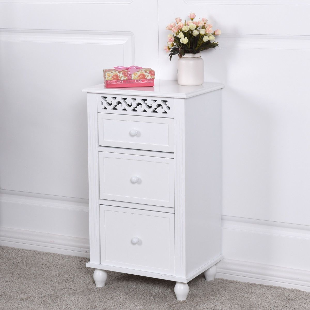 Bathroom Wood Collection Storage Organizer Floor Cabinet ...