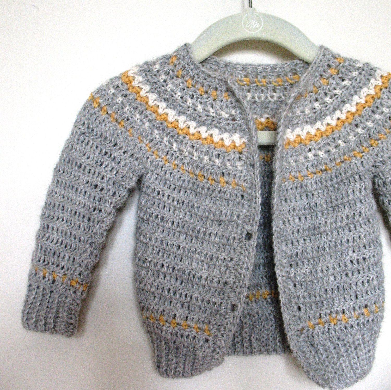 Teen Boy Crochet Sweater Pattern Knit Look No. 1 by BallHanknSkein ...