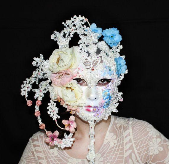 Geisha Headpiece with Swarovski® crystals by ElvenDesignArt