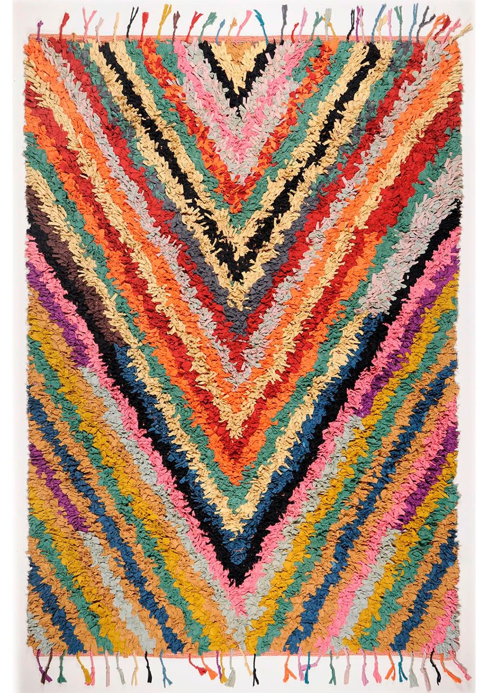 Blattschuss von Fleckerlteppich Woven Rug RO-12-1124 800 in multicolor.