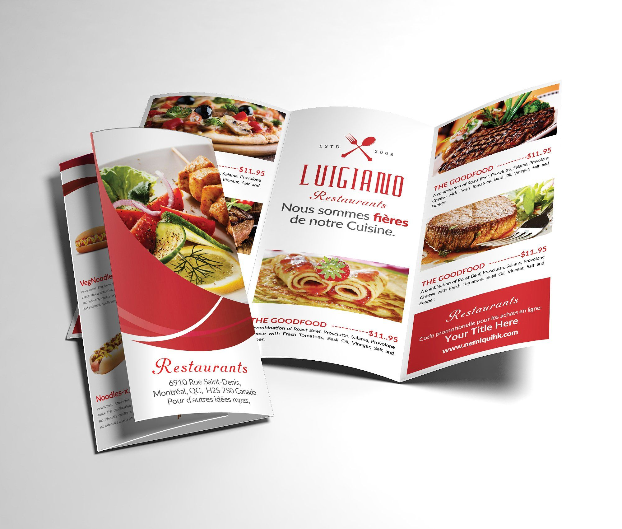 Restaurant Menu TriFold Brochure By Afzaalgraphics On