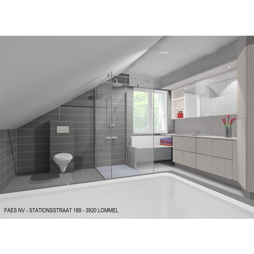 3d badkamer schuin dak 2 huis ideeen badkamer for Inrichting badkamer 3d