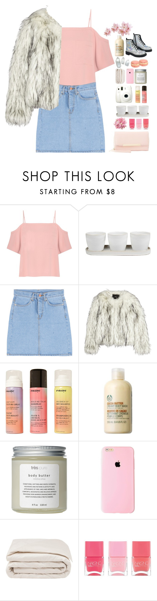 """Happy Birthday xx @moonlightxbby"" by lanadelnotyou ❤ liked on Polyvore featuring T By Alexander Wang, Threshold, Unreal Fur, T.U.K., Fuji, Forever 21, The Body Shop, Très Pure, Frette and Nails Inc."