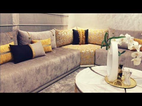ابتكارات جديدة في تفريشات الصالونات المغربية تنسيق ألوان طلامط Les Salon Marocain Mode Moroccan Living Room Living Room Decor Colors Living Room Design Decor