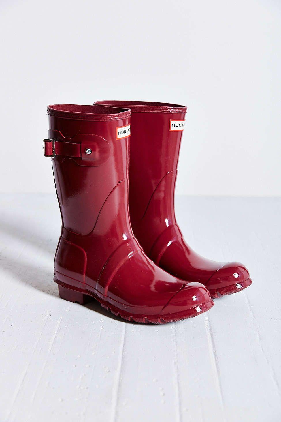 Hunter Original Short Gloss Rain Boot - Urban Outfitters