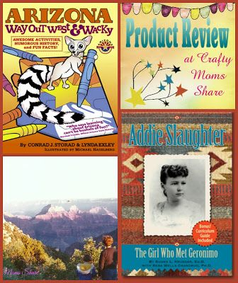 Crafty Moms Share: Exploring Arizona with Books: Arizona Way Out West & Wacky and Addie Slaughter -- Book Reviews