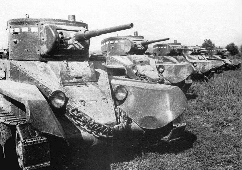 фото СССР ВОВ советские быстроходные танки БТ-5 в 1939 ...
