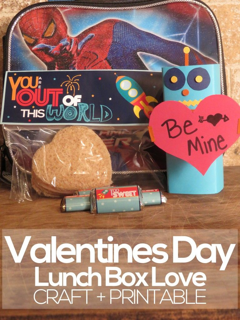 This Special Valentines Day Lunch Box Love Craft And Printable Is A