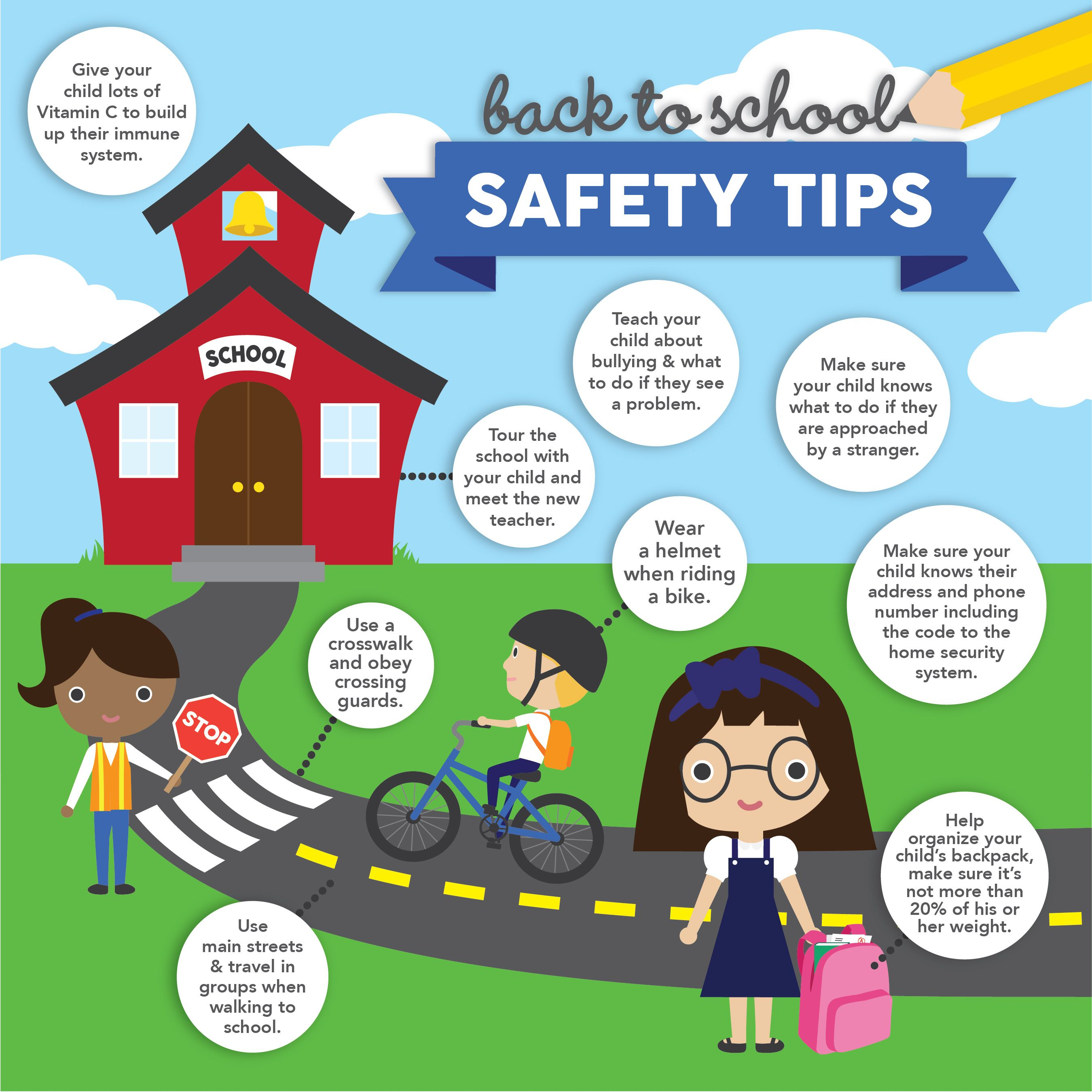 9 Of The Best Back To School Tips School Safety Back To School Hacks Safety Rules For Kids