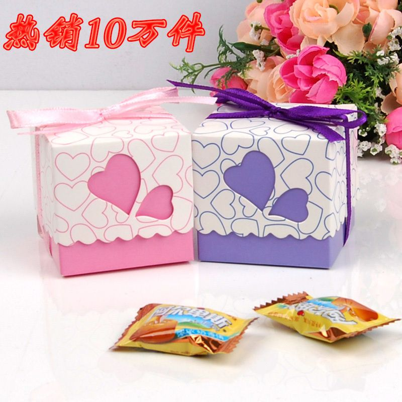 Diy Personalized Fastive Box Fashion Gift box Cutout Pink Love Candy Box Ribbon 98,Free Shipping-in Storage Boxes & Bins from Home & Garden on Aliexpress.com