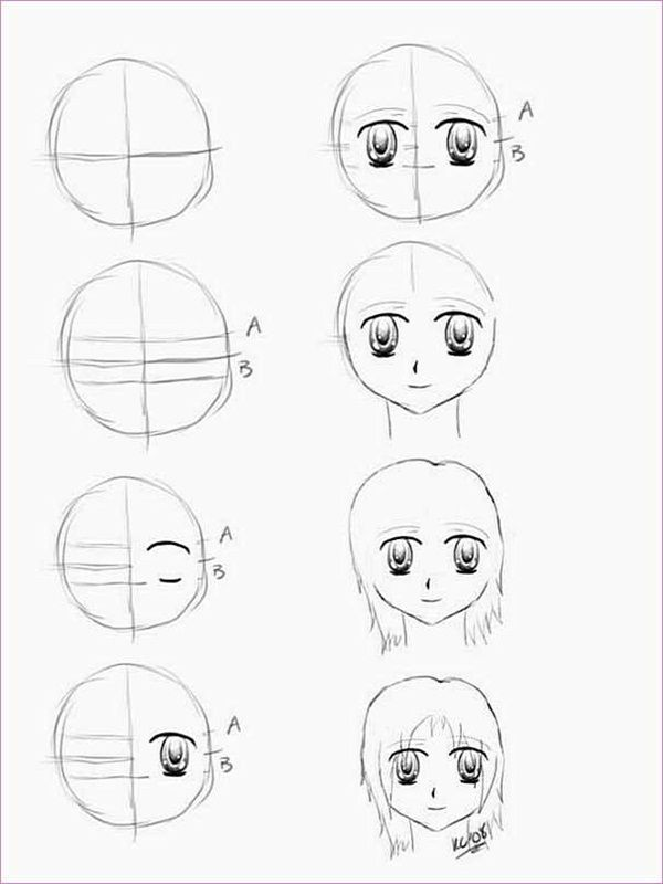 How To Draw Anime Characters Step By Step 30 Examples Anime Drawings For Beginners Anime Drawings Anime Character Drawing