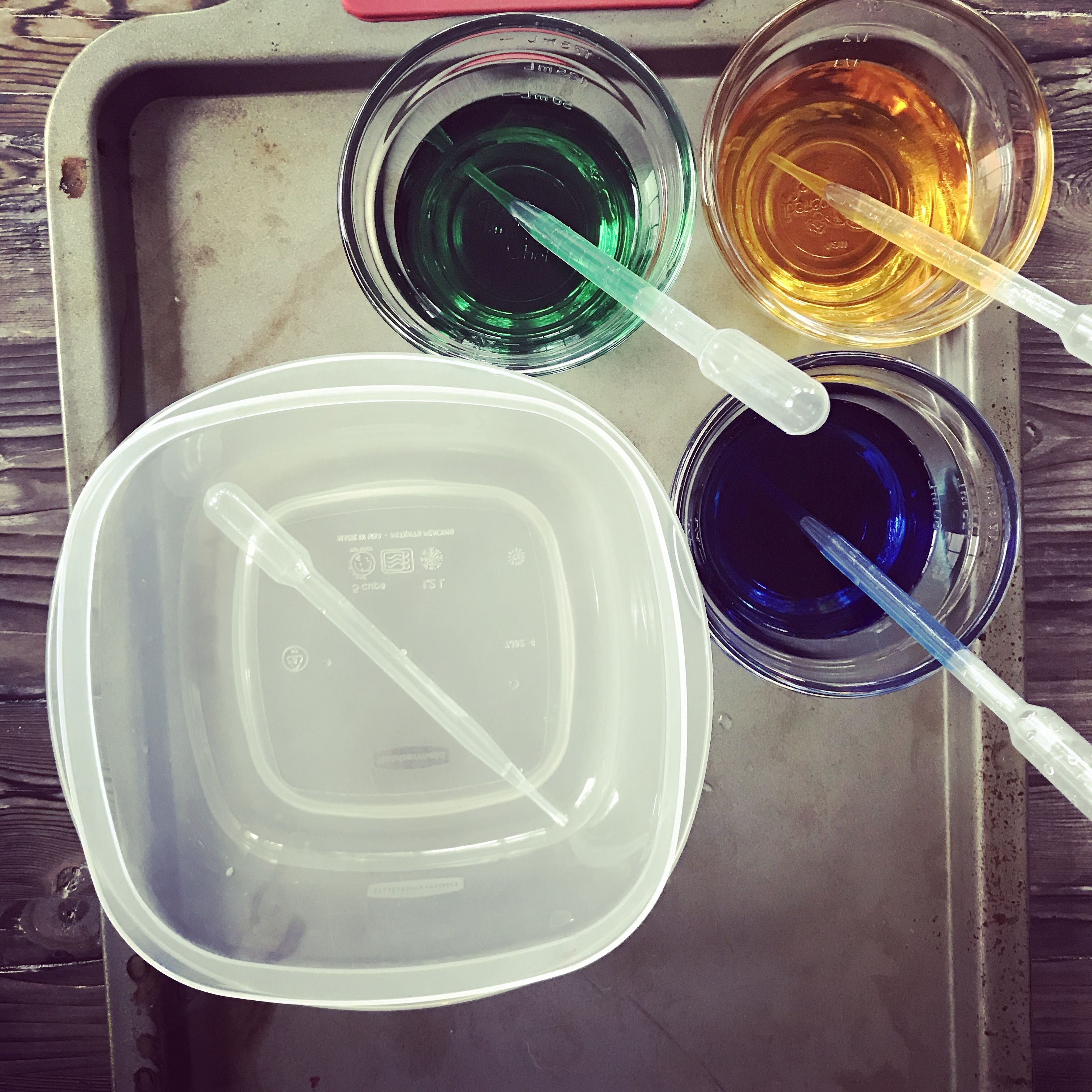 Transferring Colored Water To Mix Colors Promote Hand Eye