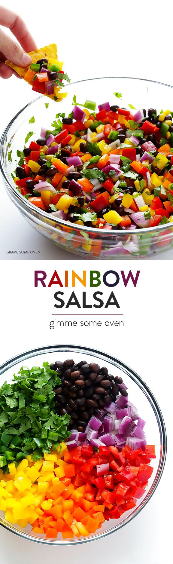 Rainbow Salsa -- it's fresh, healthy, colorful, tasty, and always a big hit at a party! http://papasteves.com/blogs/news