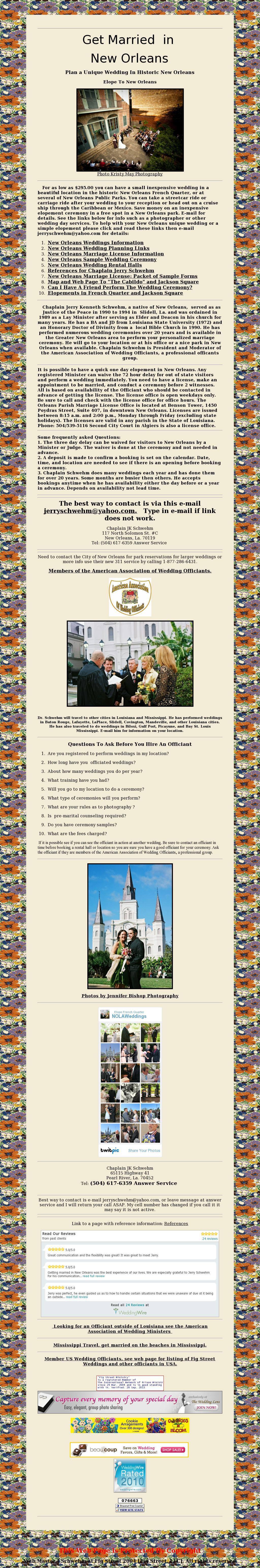 New Orleans Weddings Chaplain Schwehm Of Fig Street Weddings Www