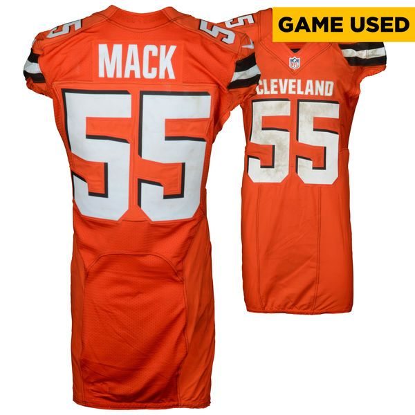 463290b4f ... Alex Mack Cleveland Browns Fanatics Authentic Game-Used 55 Jersey vs  San Francisco 49ers ...
