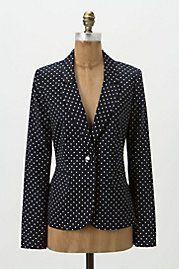 Polka-dot blazer. Cute for Fridays??
