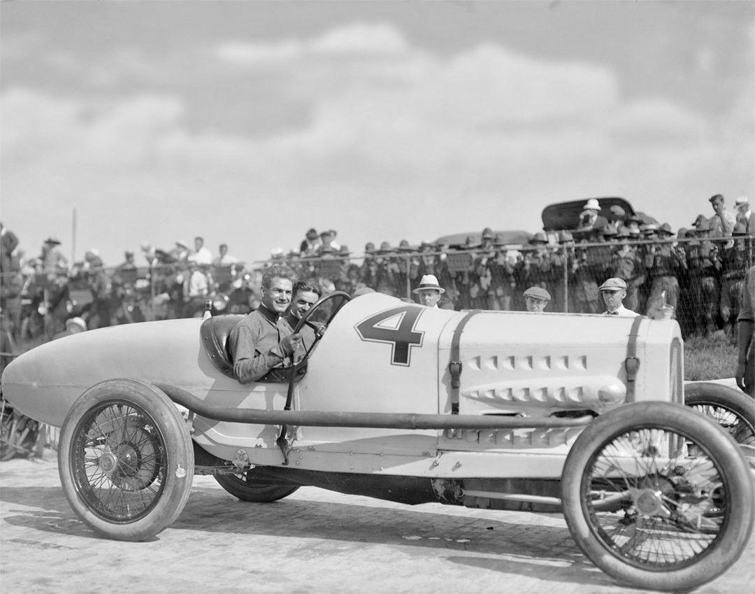Ralph De Palma, Race Car Driver, Sheepshead Bay Speedway, 1912 ...