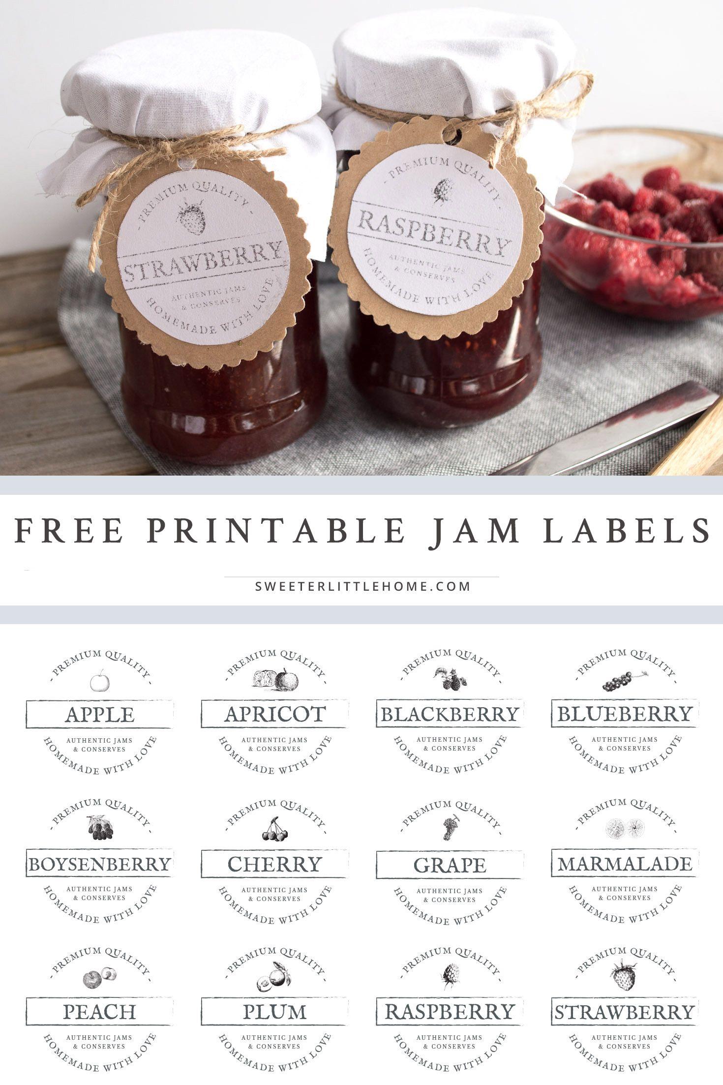 free printable vintage jam jar labels