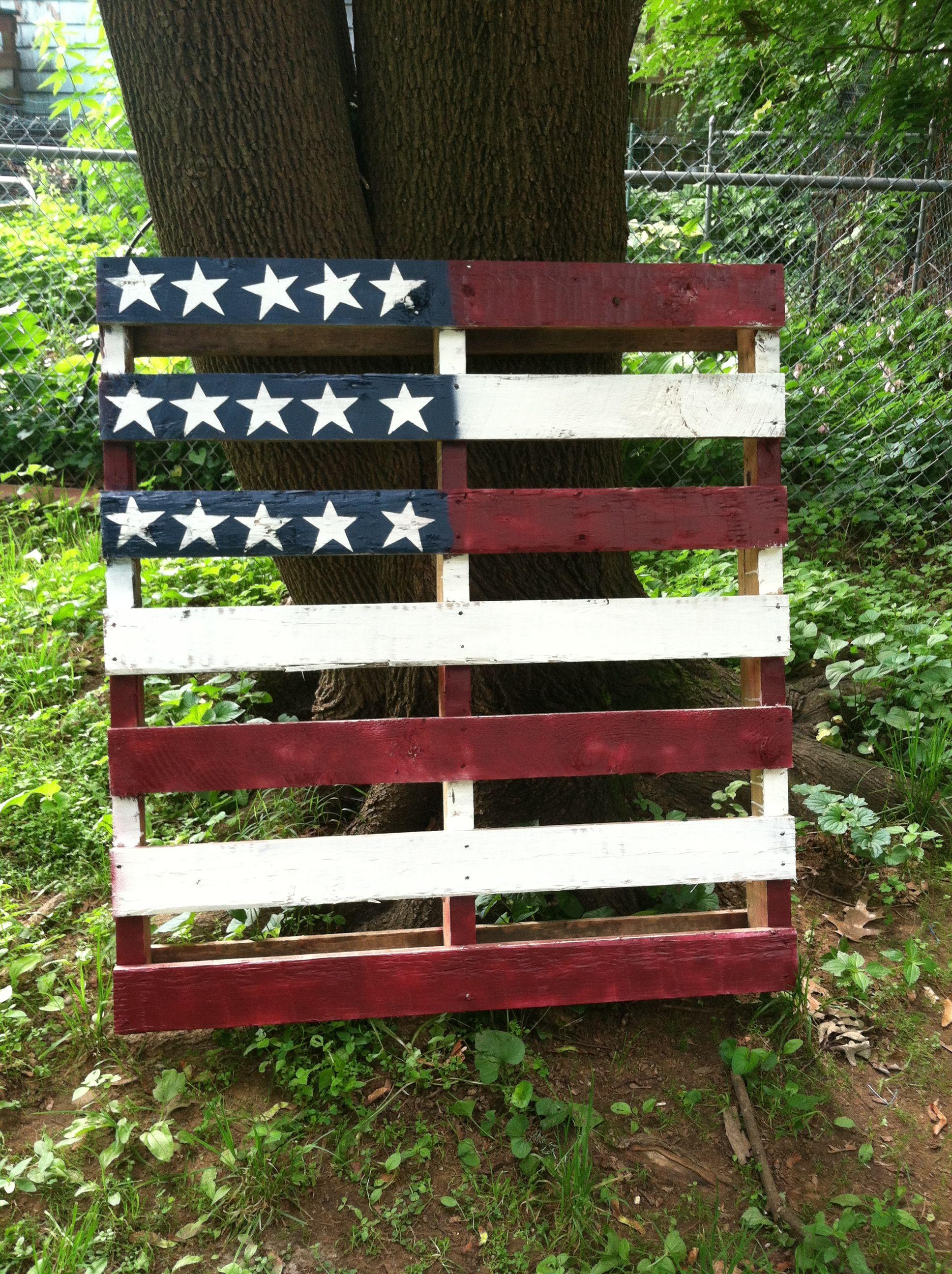 American Flag Pallet Tutorial | American flag pallet ...