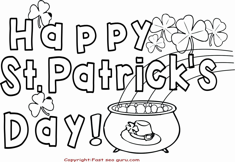 Saint Patrick S Day Coloring