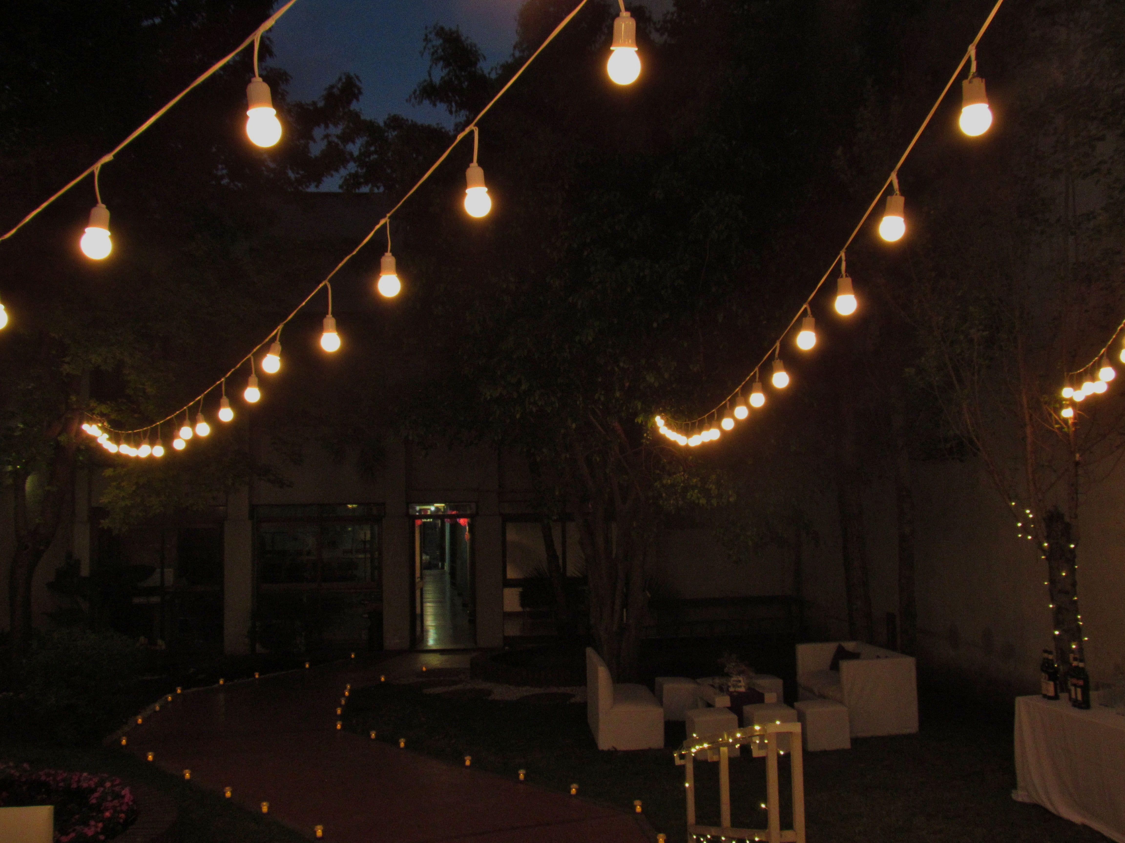 ambientacin exterior con guirnaldas de luces farolitos - Guirnaldas De Luces