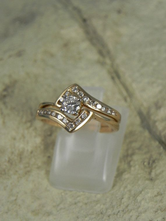 Layaway Available 14k Gold Diamond Wedding Ring By Hollywoodrings 750 00