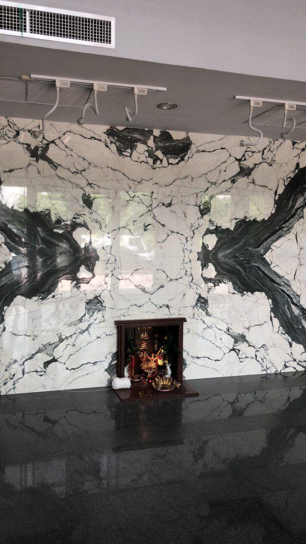 Panda Marble Fireplace