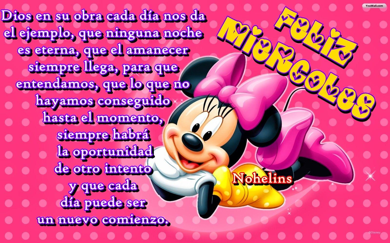 Imágenes De Minnie Mouse Con Frases Imagui Feliz